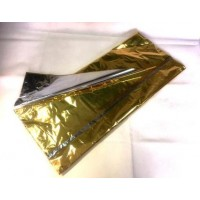 2 sides metallic BOPP sheets Gold / Silver