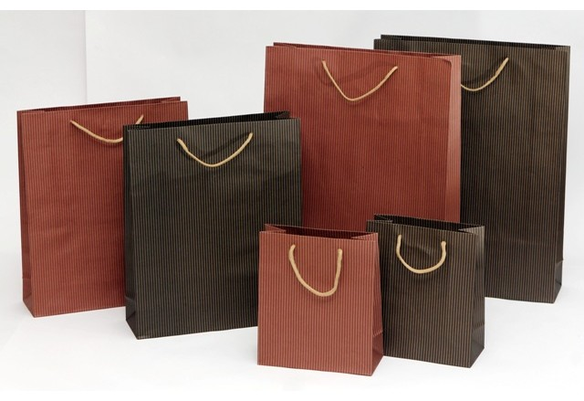 Recycled hard paper bags - LINES collection