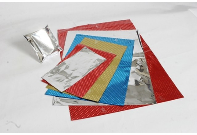 Flexibale metalic bags + sticking strip