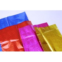 Cellophane Bags - transparent front, metallic back