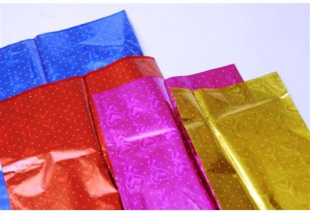 Cellophane Bags - transparent front, metallic back