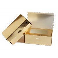 Gold Paper Box + Open Window + cover