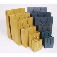 Recycled cardboard ropes handles Bags - Plain