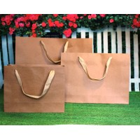 Cotton Handles - Luxury Brown Kraft shopping bags (also Wide bags)