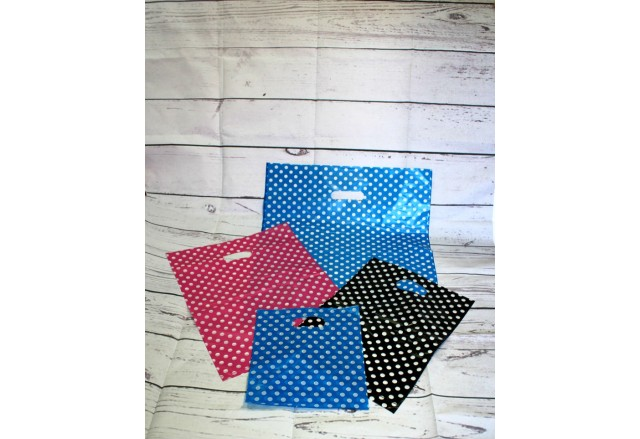 Plastic handles shopping bags - the Dots Collection